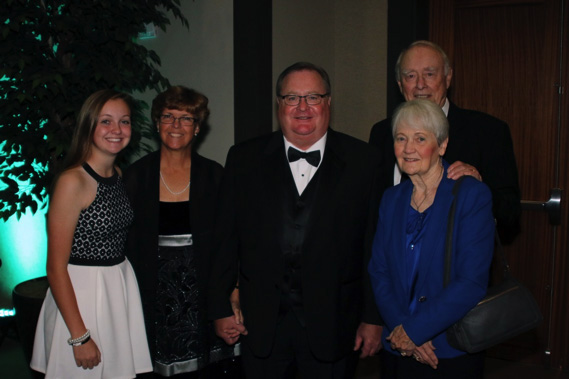 Bruce Hagenau was joined by his family for this special recognition
